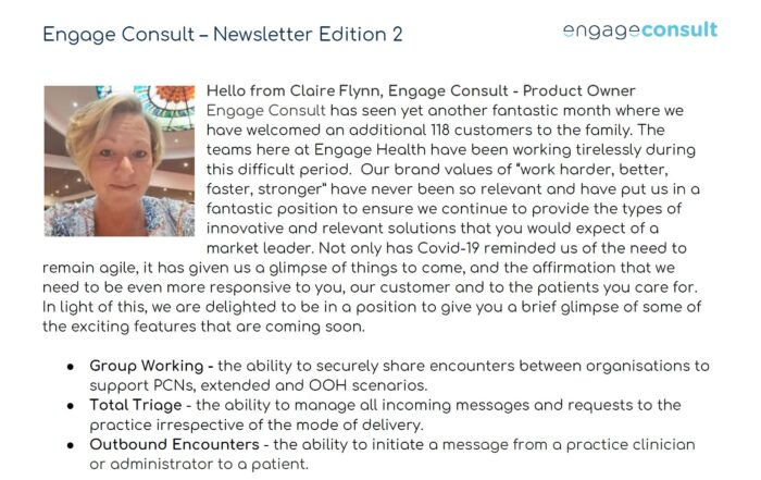 Engage Consult - Edition 2 Newsletter